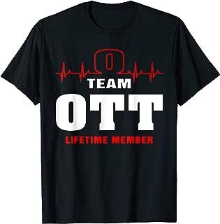 Team OTT lifetime member shirt surname, last name gift