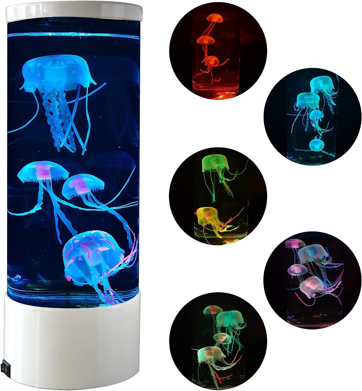 Jellyfish Lava New York Mall Lamp Multi-Color Changing Night Light Aquarium ! Super beauty product restock quality top! wi
