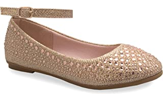 OLIVIA K Women's Bows and Rhinestones Patent Metallic Thong Jelly Flip Flop