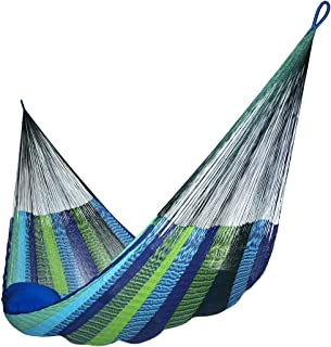 Hammocks Rada: Handmade Yucatan Hammock - Matrimonial Size Caribbean Breeze Multicolor - 13ft Long Artisan Crafted