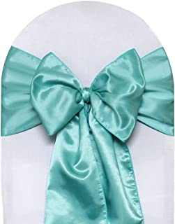 Your Chair Covers - Satin Sashes Tiffany (Pack of 10), Chair Sashes for Weddings, Events, Hotels and Catering Services