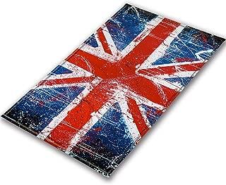 LB Union Jack Rug,Large British Flag Graffiti Non Slip Area Rugs Carpet Bedroom Bathroom Floor Mat for Living Room Playroom 3'3''x5'