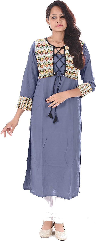 Lakkar Haveli Women Long Dress Casual Tunic Ethnic Party Wear Maxi Dress Grey Color Wedding Wear Frock Suit Plus Size