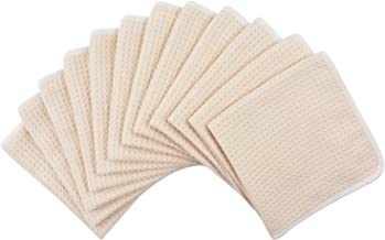 KinHwa Makeup Remover Cloth Reusable Natural Face Cloth Ultra Soft Chemical-free 13inch x 13inch 12pack Cream