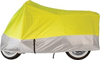 Dowco Guardian 04822 Travel Ready Water Resistant Indoor/Outdoor Motorcycle Cover, Internal Storage Compartment: Hi -Viz, Medium, Sportbike