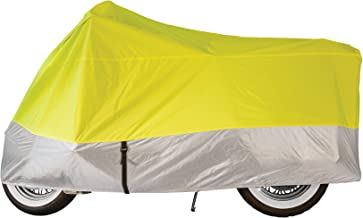 Dowco Guardian 04824 Travel Ready Water Resistant Indoor/Outdoor Motorcycle Cover, Internal Storage Compartment: Hi -Viz, X-Large, Cruiser and Touring
