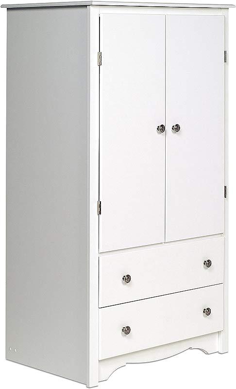 Prepac White Monterey 2 Door Armoire