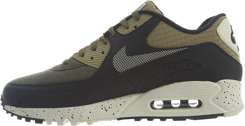 Amazon.com | Nike Men's Air Max 90 Premium Neutral Olive 700155 ...