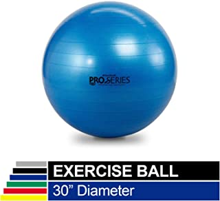 TheraBand Exercise Ball, Professional Series Stability Ball with 75 cm Diameter for Athletes 6'2