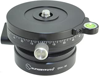 SUNWAYFOTO DYH-90Ri DYH90Ri 90mm Panning Leveling Base with with Fluid Rotation for Tripod Sunway