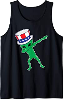 Dabbing Alien Dab For Freedom USA Merica 4th th of July Gift Tank Top