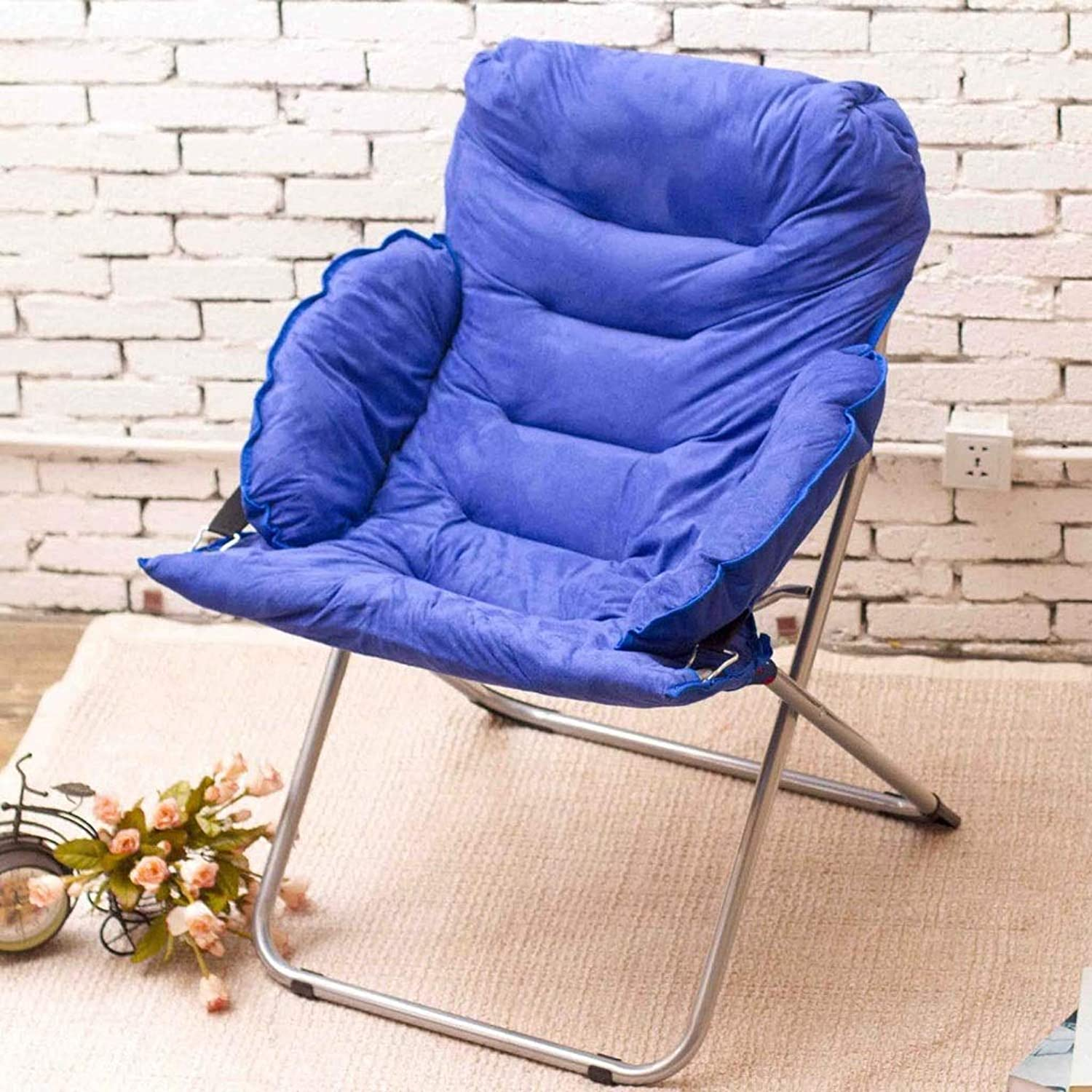 ZDYUY Folding Chair Washable Adult Moon Chair Sun Lounger Lazy Chair Lounge Chair Armchair Home Lounge Chair (color   B)