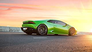 Verde Mantis Green Lamborghini Huracan LP610 4 Car Poster Print (24x36 Inches)