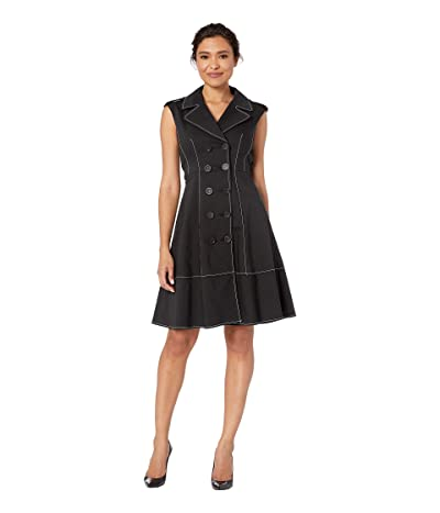 Nanette Lepore Trench Dress (Black) Women
