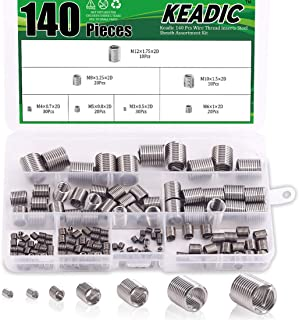 M16-2.0 Internal Threads 303 Stainless Steel//Metric E-Z Lok Externally Threaded Insert Made in US 19.84mm Length 1-8 External Threads