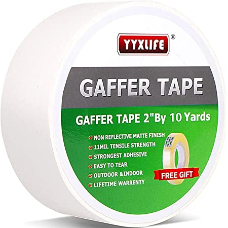 Black ATack Gaffer Tape Pro 2-Inches X 30 Yards- Premium Grade and Easy Tear Matte Black Gaff Main Stage Tape for Photographers Interior Designers and Professionals
