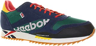 Reebok Mens Classic Leather Ripple Sneaker, Adult, Outdoor-Classicover Green/Prim