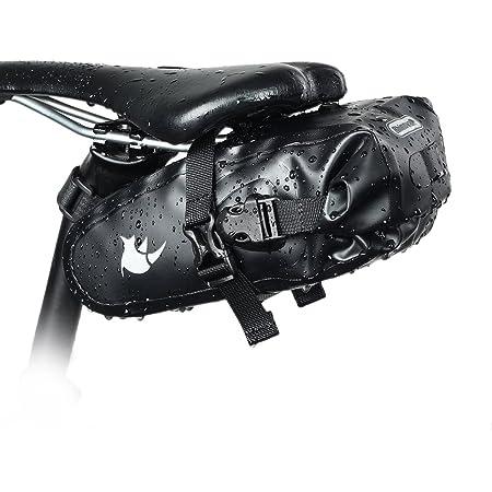 Rhinowalk 自転車 サドルバッグ サイクリングバッグ 防水 大容量 ストラップ式