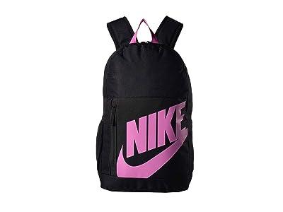 Nike Kids Elemental Backpack (Little Kids/Big Kids) (Black/Black/China Rose) Backpack Bags