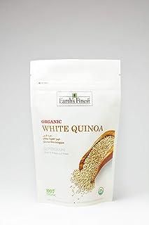 Earth's Finest Organic White Quinoa - 340g | 100% Raw Organic Quinoa | Gluten-Free, Wholegrain & Vegan Superfood
