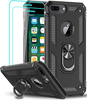 LeYi Funda iPhone 6 Plus / 6S Plus, iPhone 7 Plus / 8 Plus Case con [2-Unidades] Cristal Templado,360 Ring Soporte Magneti...