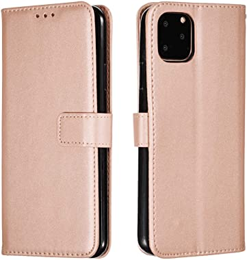 OOALUCK Leather Cover Compatible with Samsung Galaxy S10 Plus, Rose Gold Wallet Case for Samsung Galaxy S10 Plus