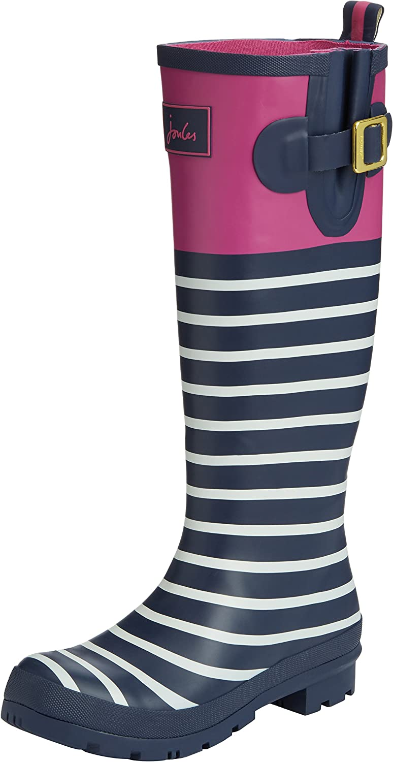 Joules Womens T Wellyprint, Exlusive Magenta, 7