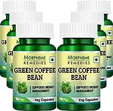 Morpheme Green Coffee Beans 500mg Extract 60 Veg Caps - 6 Bottles