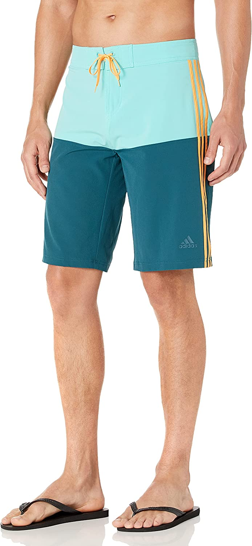 adidas Men's Knee Length Colorblock Boardshort