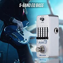 KKmoon MOOER Graphic B 5-Band EQ Bass Equalizer Effect Pedal True Bypass Full Metal Shell