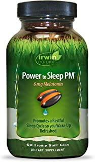 Irwin Naturals Power to Sleep PM 6mg Melatonin - Relaxing Blend of GABA, Ashwagandha, Valerian, L-Theanine & More - Calm M...