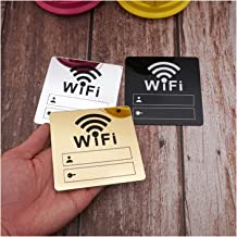 WC teken 10cm WIFI Teken 3d acryl spiegel muurstickers herschrijfbaar account en wachtwoord voor openbare shope WIFI Beweg...