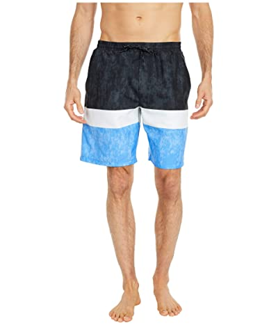 TYR Shoreline Swell Swim Shorts (Black/White/Blue) Men