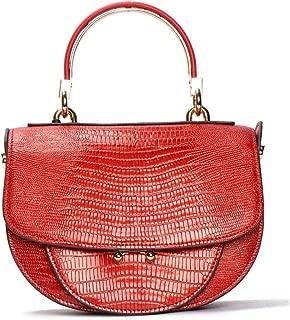 Women Bag, Shoulder Bag Soft Leather Messenger Bags Crossbody Handbags Ladies New Saddle Bag(FM),E