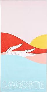 """Lacoste Sunrise 100% Cotton Beach Towel, 36""""W x 72""""L, Warm Blue"""
