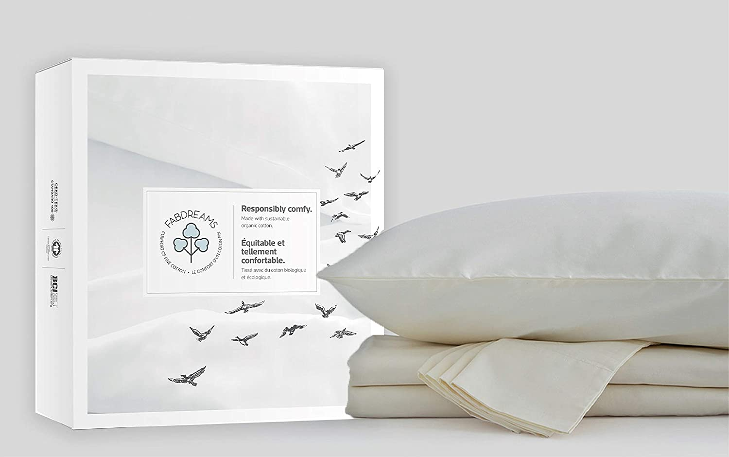 100% Organic Cotton Queen Ivory Sheet Pie 4 Set Sateen Indianapolis Mall Year-end annual account Weave