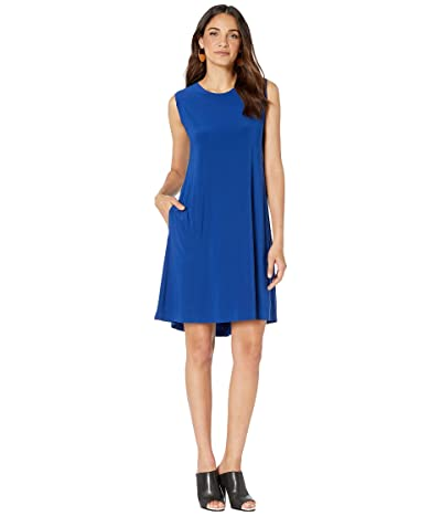 KAMALIKULTURE by Norma Kamali Sleeveless Swing Dress (Berry Blue) Women