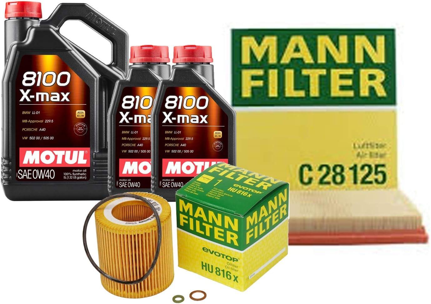 Newparts 7L 8100 X-MAX 0W-40 Charlotte Mall Filter Motor Air Change Oil High order Kit F07
