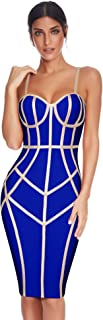 Meilun Womens Sleeveless Bodycon Dress Bandage Straless Dress