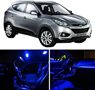 SCITOO 10 Pcs Blue Package Kit Accessories Replacement Fits for 2010-2016 Hyundai Tucson LED Bulb LED Interior Lights
