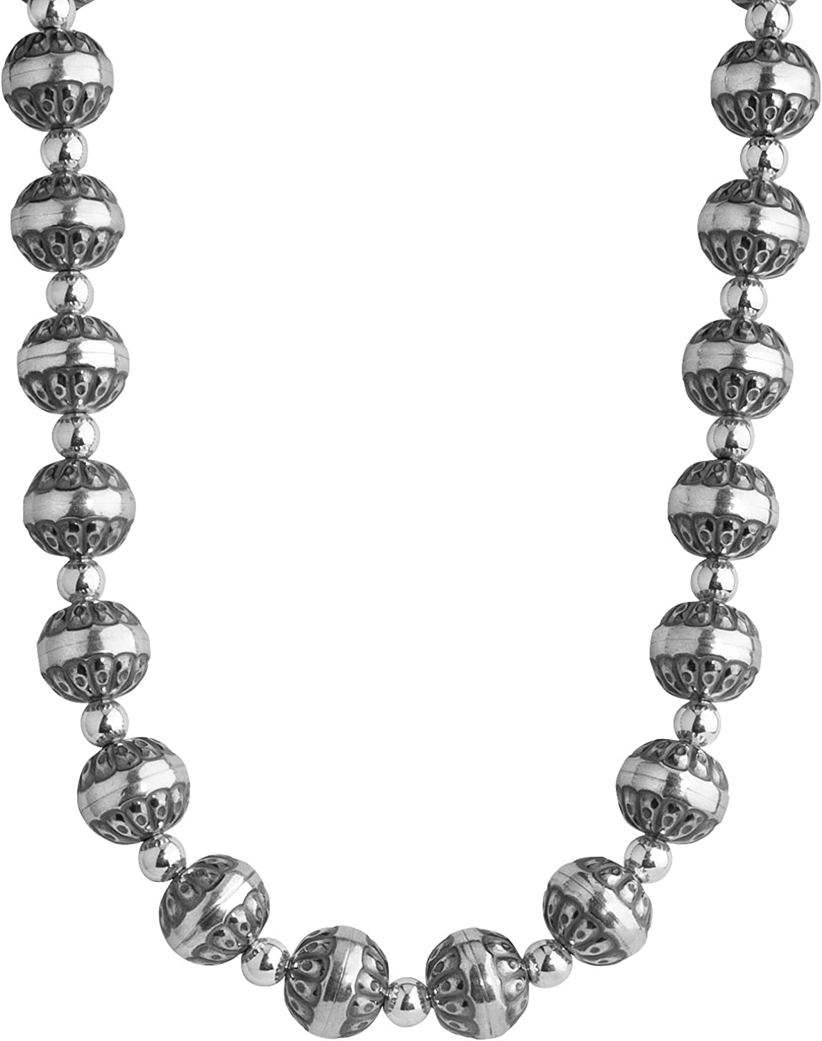 American West Sterling Silver Native Free shipping New or Pearl Beaded Safety and trust Necklace 17