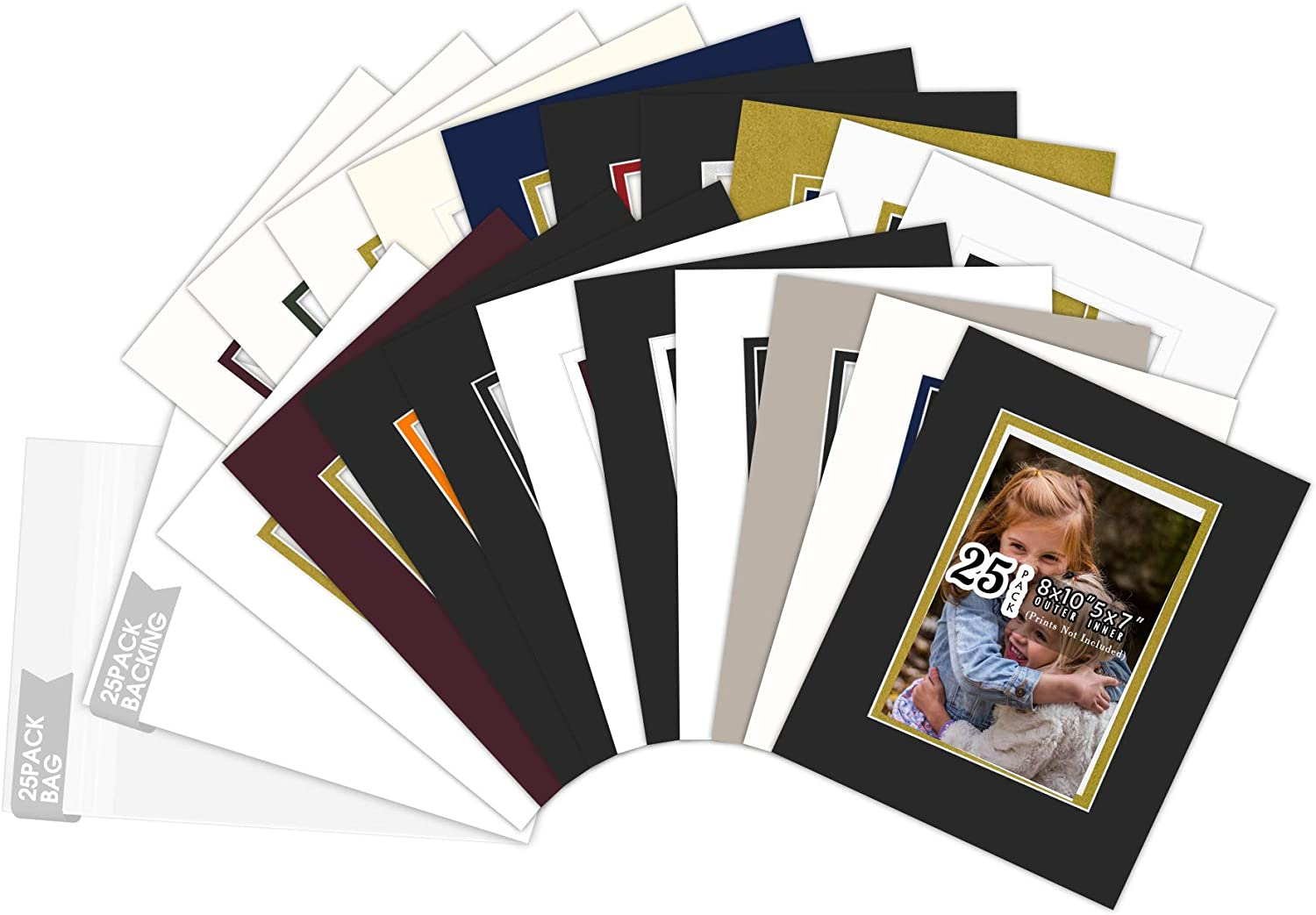 Golden State Art Pack of 25 Doubl Colors Sales SALE items Popular products from new works Complete Set Mix 8x10