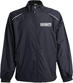 Smart People Clothing Security Jacket, Windbreaker, Reflective Design, Security Guard, Professional Black