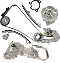 Timing Chain Kit with Water Pump & Oil Pump for 2002-2006 Nissan Altima Sentra SE-R 2.5L L4 16V DOHC QR25DE Engine