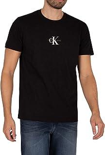 Calvin Klein Jeans Men's Small Chest Monogram T-Shirt, Black, XS