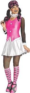 Secret Wishes Monster High Deluxe Adult Draculaura Costume, Pink/White, Medium