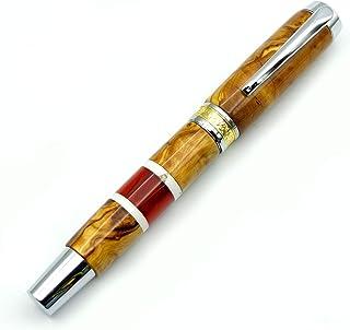 CLIVIA - Penna stilografica realizzata a mano, in radica di ulivo e resina. Made In Italy