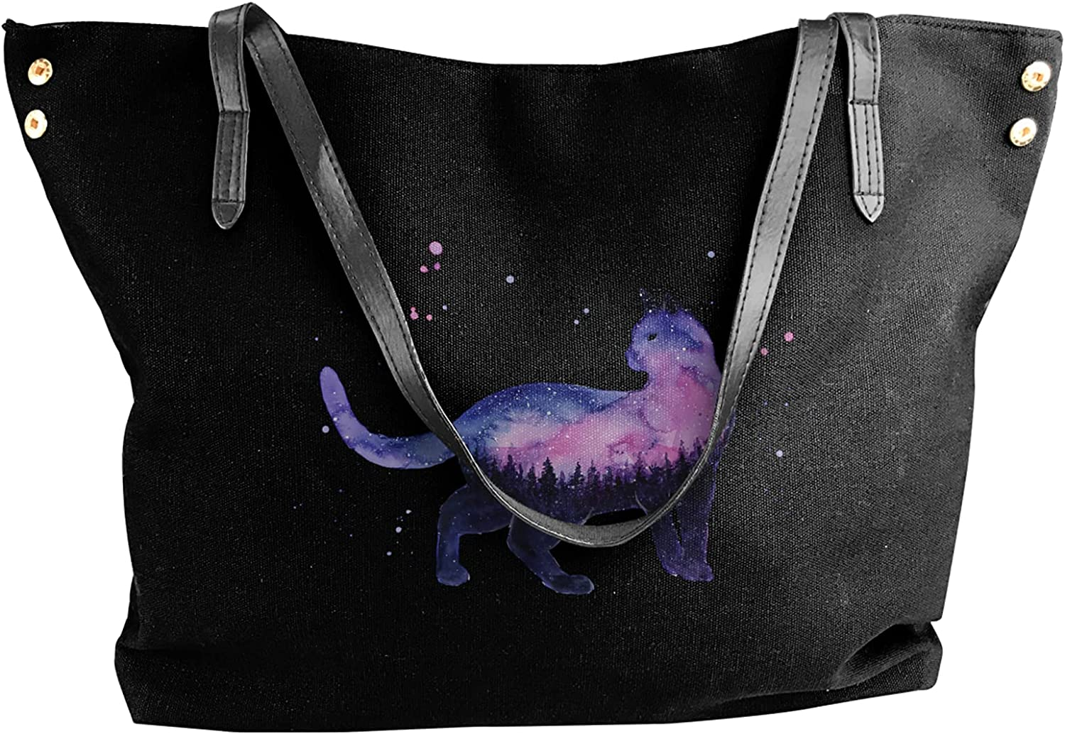 Canvas Shoulder Bags Starry Sky Bag Pur Discount is also underway Cat Surprise price Tote Casual