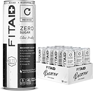 FITAID ZERO, No Artificial Flavors or Sweeteners, Keto-Friendly, #1 Post-Workout Recovery Drink, Contains Zero Sugar, BCAA...