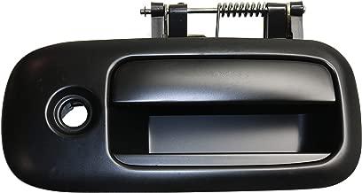 Exterior Rear Door Handle Compatible with CHEVROLET EXPRESS/SAVANA VAN 2010-2016 RH Side Sliding Door Smooth Black with Keyhole